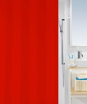 Штора для ванной комнаты 180x200см текстильная красная Spirella ATLAS 4005711