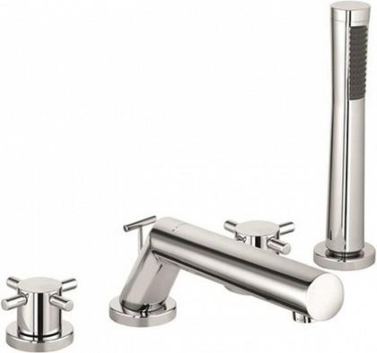 Смеситель c душевой лейкой вентильный на бортик ванны, хром Kludi BOZZ 384240520