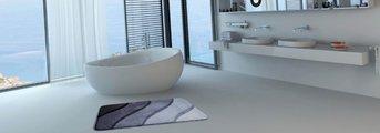 Коврик для ванной 60x100см серый Grund Duna b2602-016001001