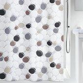 Штора для ванной Spirella Dido, 180x200см, полиэтилен, бежево-серый 1014429
