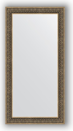 Зеркало в багетной раме 83x163см вензель серебряный 101мм Evoform BY 3352