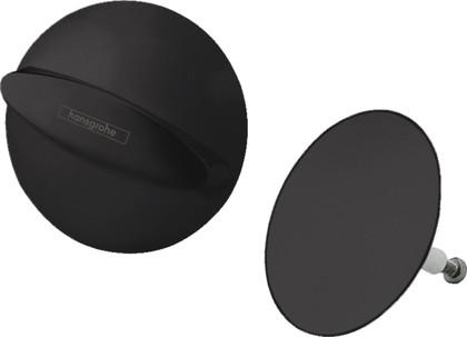 Внешняя часть для слива и перелива ванны Hansgrohe Flexaplus, матовый чёрный 58185670
