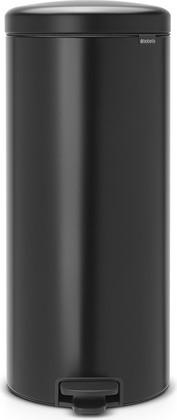Мусорный бак с педалью 30л, чёрный матовый Brabantia Newicon 114540