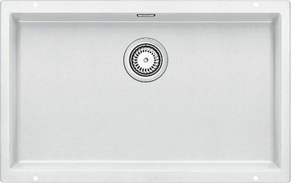 Кухонная мойка без крыла, с клапаном-автоматом, гранит, белый Blanco SUBLINE 700-U 515774