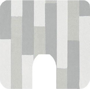 Коврик для туалета 55x55см светло-серый Spirella PLANK 1016198