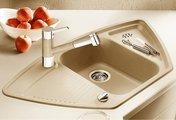 Кухонная мойка с крылом, гранит шампань Blanco Classic 9 E 521342
