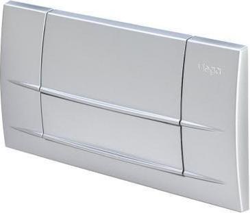 Клавиша смыва для инсталляции для унитаза пластиковая, матовый хром Viega Visign 3 463045