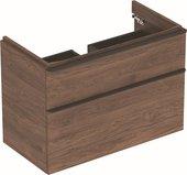 Шкафчик под раковину Geberit Smyle Square с двумя выдвижными ящиками, для раковины 90см, высота 61.7см, пекан 500.354.JR.1