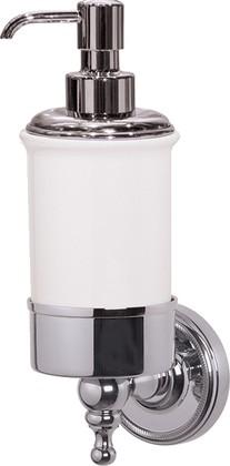Дозатор для жидкого мыла TW Bristol настенный, керамика, хром TWBR108cr