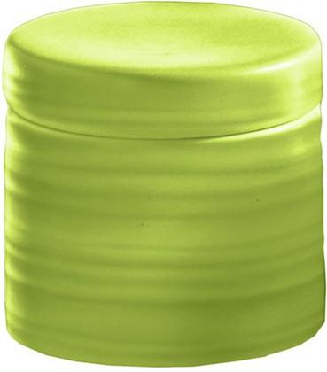 Контейнер для ватных дисков керамический зелёный Kleine Wolke Sahara 5046625873