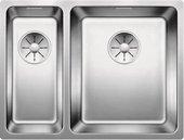 Кухонная мойка Blanco Andano 340/180-U, чаша справа, отводная арматура, полированная сталь 522977