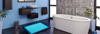 Коврик для ванной 60x100см синий Grund Avalon b3623-16184