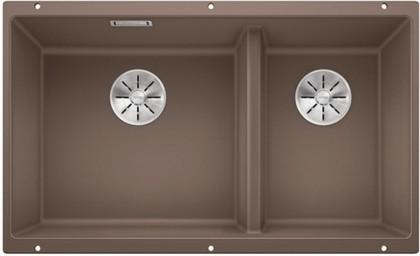 Кухонная мойка Blanco Subline 430/270-U, отводная арматура, мускат 523159