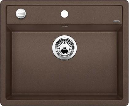 Кухонная мойка без крыла, с клапаном-автоматом, гранит, кофе Blanco Dalago 6-F 515095