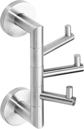 Крючок тройной поворотный 55х190x110мм, матовый хром Bemeta Neo 104206075