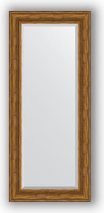 Зеркало с фацетом в багетной раме 64x149см травленая бронза 99мм Evoform BY 3550