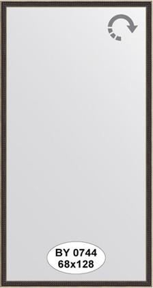 Зеркало 68x128см в багетной раме витой махагон Evoform BY 0744