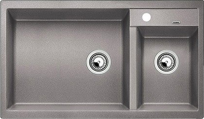 Кухонная мойка основная чаша слева, без крыла, гранит, алюметаллик Blanco Metra 9 513268