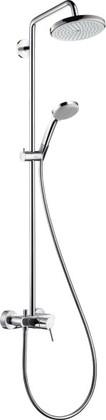 Душевая система со смесителем поворотная, хром Hansgrohe Croma 220 Showerpipe 27222000*