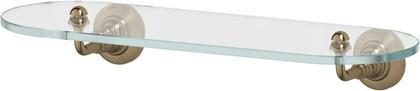 Полка для ванной 3SC 40см, античная бронза, стекло STI 514