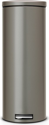 Мусорный бак 20л высокий с педалью, MotionControl, платиновый Brabantia Slim 478543