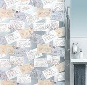 Штора для ванной Spirella Carta, 180x200см, полихлорвинил, бежевый 1016130