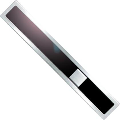 Дизайн-решетка из прозрачного чёрного стекла и рамы из нержавеющей стали, 800мм Viega Advantix Visign ER9 617080