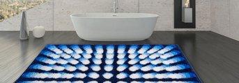 Коврик для ванной Grund Karim 07, 90x90см, полиакрил, синий 3644.55.048