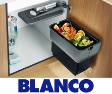 Аксессуары для кухонной мойки. Сортировка отходов и хранение.
