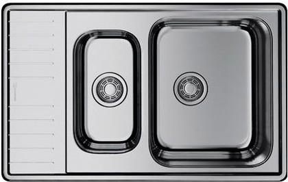 Кухонная мойка Omoikiri Sagami 79-2-IN-R с двумя чашами справа, нержавеющая сталь 4993550