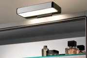 Зеркальный шкаф 130x67см трёхдверный с подсветкой, встроенным цифровым радио и динамиком Keuco ELEGANCE 21605171301
