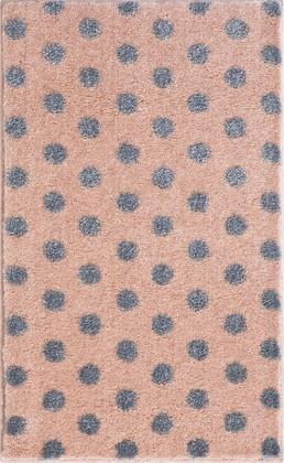 Коврик для ванной Grund Bindu, 60x100см, полиакрил, розовый с серебряным люрексом 3617.16.291