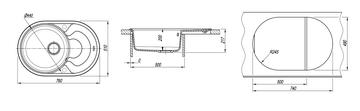Кухонная мойка Florentina Родос, 760x510мм, капучино 20.140.D0760.306