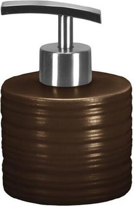 Ёмкость для жидкого мыла низкая керамическая коричневая Kleine Wolke Sahara 5046301849