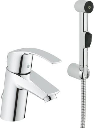Смеситель для раковины Grohe Eurosmart, однорычажный, с гигиеническим душем 23124002