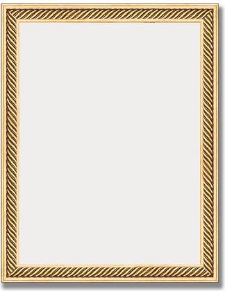 Зеркало 36x46см в багетной раме витое золото Evoform BY 1327