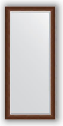 Зеркало 72x162см с фацетом 25мм в багетной раме орех Evoform BY 1207