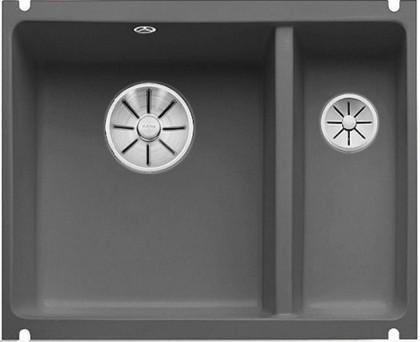 Кухонная мойка Blanco Subline 350/150-U, отводная арматура, базальт 523746