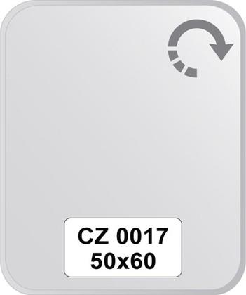 Зеркало для ванной 50x60см с фацетом 10мм FBS CZ 0017