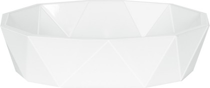 Мыльница пластиковая белая Spirella CRYSTAL 1018127