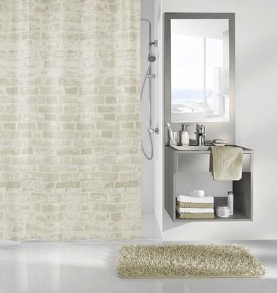 Шторка для ванной Kleine Wolke Wall, 180x200см, полиэстер, натуральный 5907202305