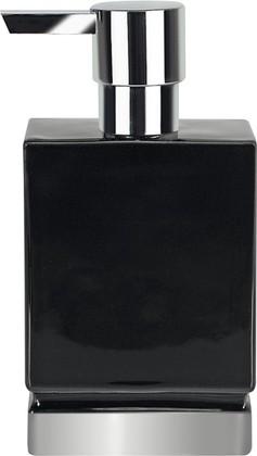 Ёмкость для жидкого мыла керамическая, чёрный/серебро Spirella Roma 1017973