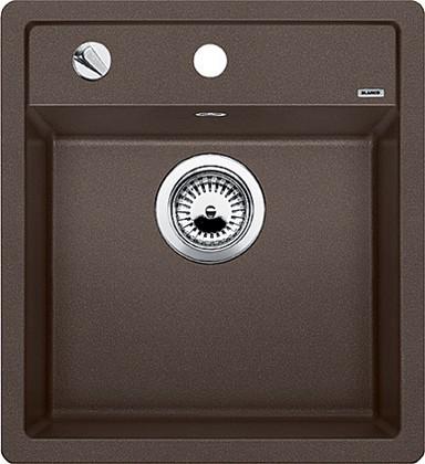 Кухонная мойка без крыла, с клапаном-автоматом, гранит, кофе Blanco Dalago 45 517165