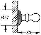Крючок одинарный хром Grohe Sinfonia 40052000