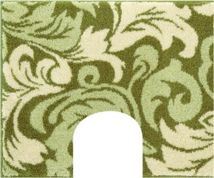 Коврик с вырезом под туалет 50x60см зелёный Grund Noto 3497.06.180