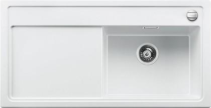 Кухонная мойка чаша справа, крыло слева, с клапаном-автоматом, гранит, белый Blanco Zenar XL 6 S 519275