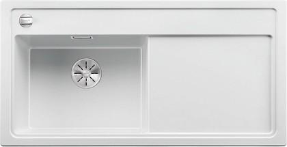 Кухонная мойка Blanco Zenar XL 6S-F, чаша слева, клапан-автомат, белый 523912