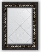 Зеркало Evoform Exclusive-G 550x720 с гравировкой, в багетной раме 81мм, чёрный ардеко BY 4010