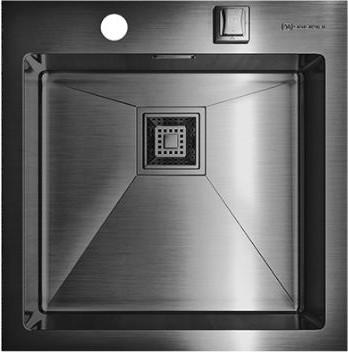 Кухонная мойка без крыла, нержавеющая вороненая сталь Omoikiri Akisame 46-GM 4993095