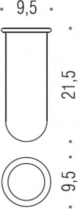 Запасная стеклянная колба для туалетного ёршика Colombo MELO B0156